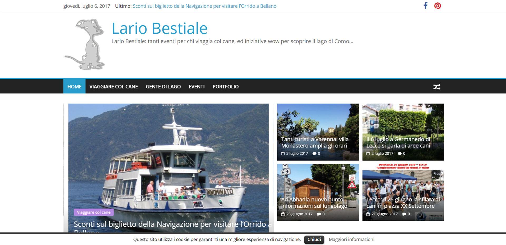 Sito web responsive per Lario Bestiale